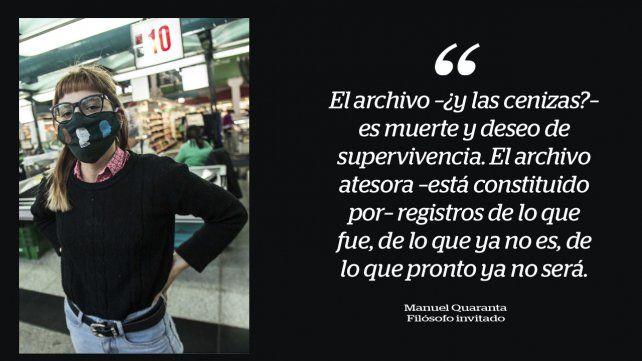Intervención realizada en un supermercado con motivo del Día Internacional de los Museos. PH: Guillermo Turín Bootelo.