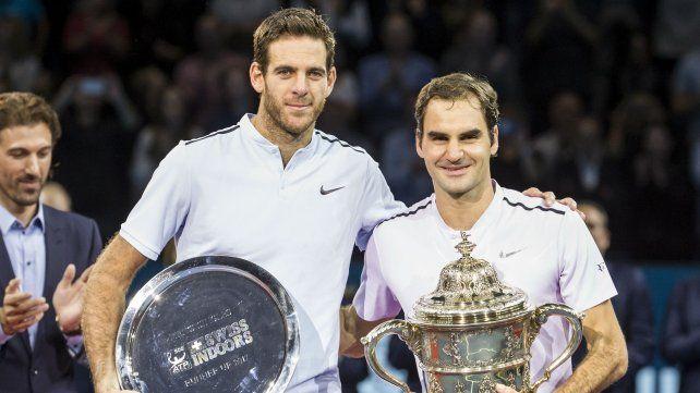 Federer derrotó a Del Potro y se coronó por octava vez en Basilea