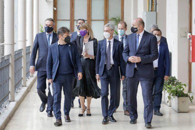 Gobernadores y ministros nacionales se reunieron en la sede local de la Gobernación