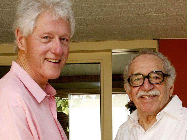 Bill Clinton mantuvo una relación estrecha con el escritor colombiano Gabriel García Márquez.