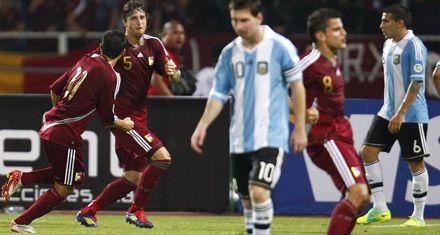 Pegó muy fuerte la Vinotinto: Argentina perdió con Venezuela por primera vez