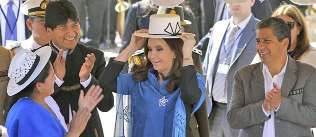 Cristina homenajeó a las Heroínas de la Coronilla.
