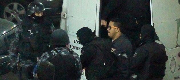 Ariel Máximo Cantero en uno de sus ingresos a Tribunales para prestar declaración.