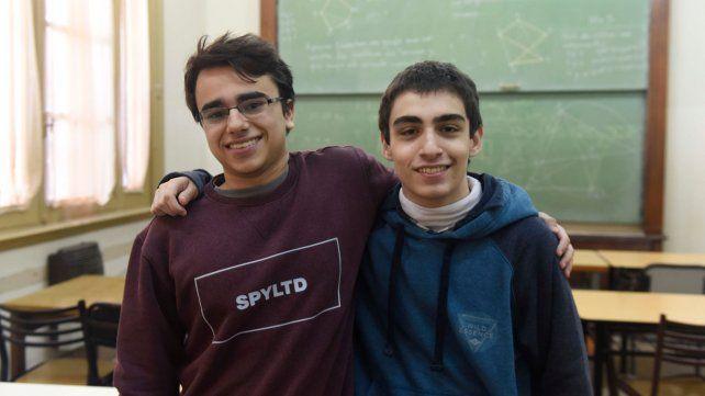 Matthias Raymonds y Julian Cabrera el año pasado.  (Leonardo Vincenti)