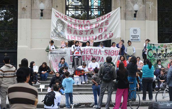 reclamo. Los familiares de Mecha hicieron varias marchas pidiendo justicia.