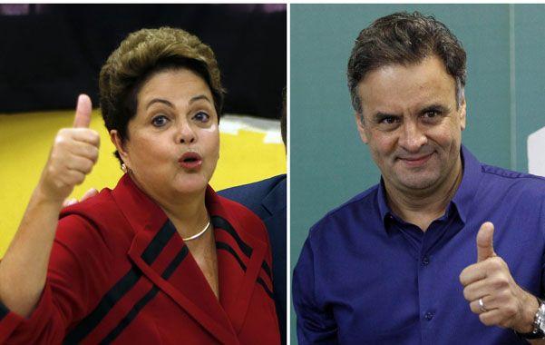 Dilma Rousseff enfrentará al centrista Aecio Neves en el ballottage del próximo 26 de octubre.