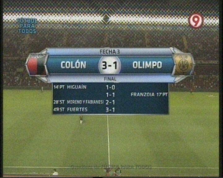 En el debut de Roberto Sensini como técnico, Colón le ganó a Olimpo 3 a 1