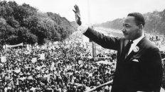 Martin Luther King en la Marcha de Washington donde dio su discurso Yo tengo un sueño.