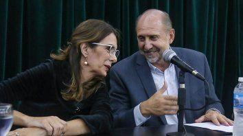 Bielsa contribuyó al triunfo de Perotti en las elecciones de 2019.