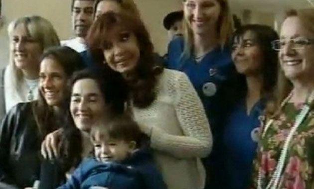 Cristina junto a Iván