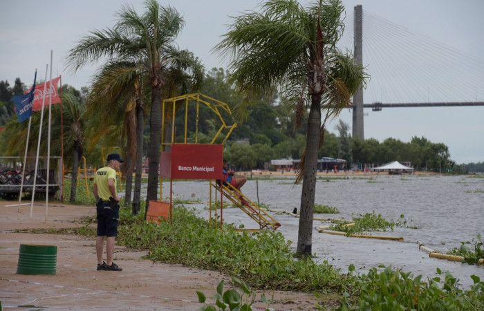 La zona del balneario La Florida y Rambla Catalunya cambiaron su habitual fisonomía. (foto: Héctor Rio)
