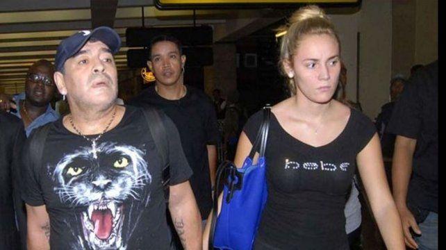 Maradona cree que Rocío lo engañó con un jugador de Boca y la llamó traidora