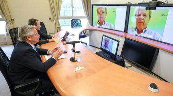 Alberto Fernández mantuvo ayer desde la Residencia de Olivos una videoconferencia con el titular del Banco de Desarrollo de América Latina (CAF), Luis Carranza Ugarte.