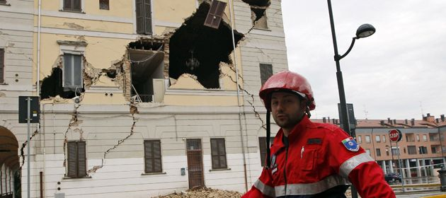 SantAgostino fue una de las ciudades más afectadas. Allí se reportaron tres muertes.