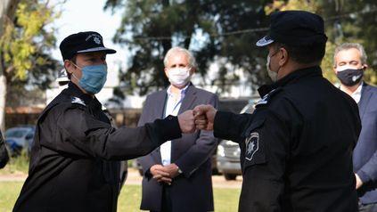 Emilce Chimenti durante la asunción de Luis Maldonado al frente de la URII. Ahora, la jefa de provincia lo suplantará en forma interna.