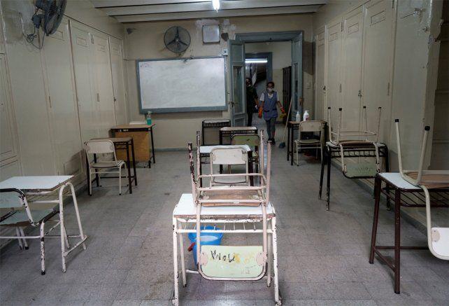 Los docentes de escuelas cumplen hoy el primer día de paro.
