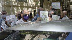 Una de las protestas de los últimos días contra Uber.