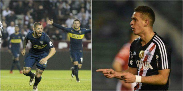 Xeneize. El goleador Darío Benedetto.Millonario. El delantero Santos Borré.