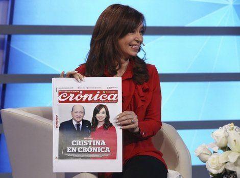 junto al pueblo. Cristina fue entrevistada por Chiche Gelblung en un ambiente ameno y distendido.