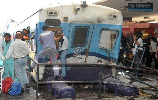 La tragedia. El choque ferroviario causó 51 muertos en febrero de 2012.