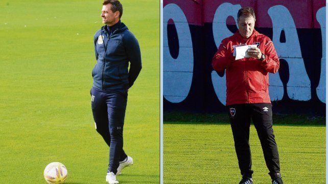 Diego Cocca deberá mostrar su temple para liderar a Central.Frank Kudelka tendrá que convertirse en el referente futbolístico de Newells.
