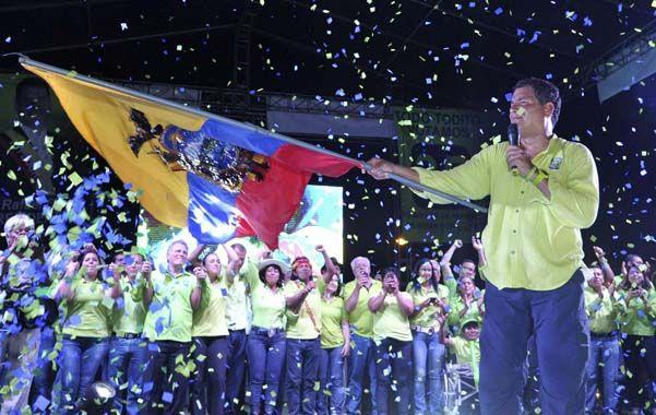 Triunfalismo. Correa cerró su campaña en la capital