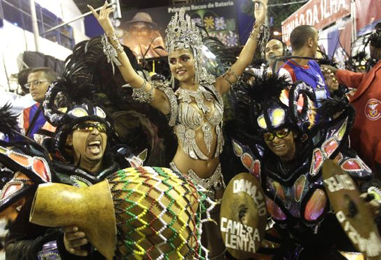 Ronaldinho, estrella del carnaval de Río