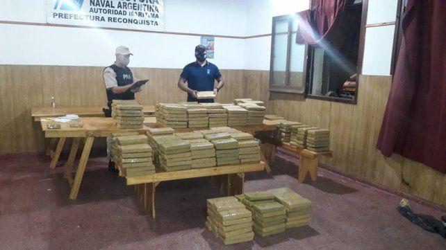 La droga incautada en la ruta nacional 11, en jurisdicción de Vera.