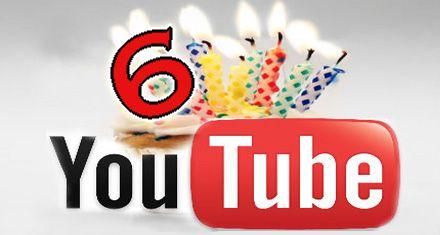 Youtube cumple apenas 6 años y recibe 3000 millones de visitas por día