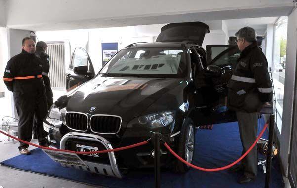 La camioneta de alta gama BMW del financista Leonardo Fariña