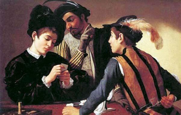"""""""Los tahúres"""". Esta obra de Caravaggio fue vendida como copia en 2006."""