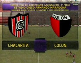 Colón venció a Chacarita con el tiro del final