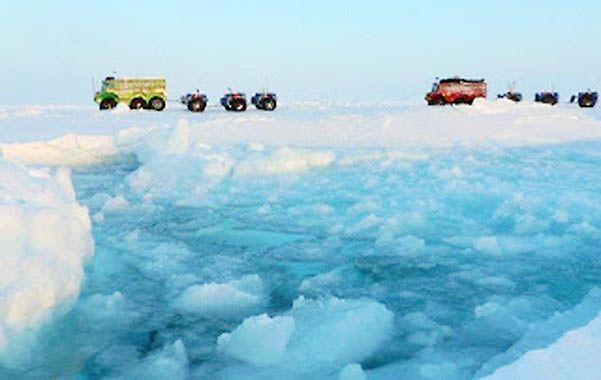 Clima. Los investigadores registran el hielo derretido cerca de la estación