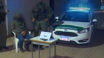 La imagen del detenido por personal de Gendarmería.