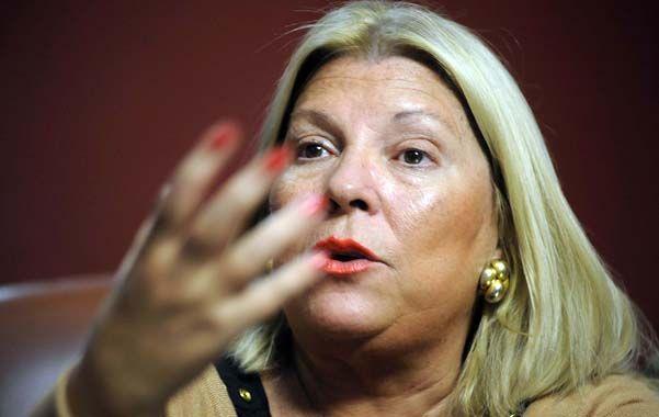 """Antes de tiempo. Lilita dijo que hay sectores """"devaluacionistas"""" que buscan una salida anticipada de la presidenta. (foto: Francisco Guillén)"""