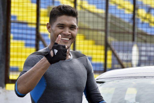 Teo Gutiérrez durante uno de los entrenamientos que realizó en Arroyo Seco.