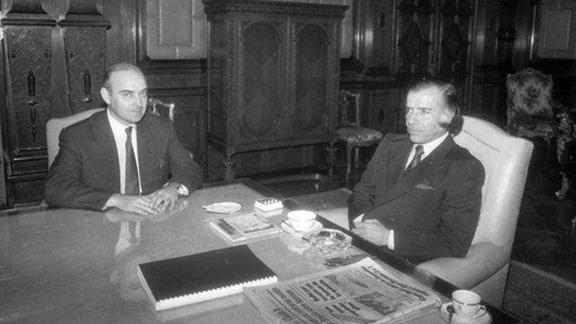 Domingo Cavallo fue primero su canciller y luego un todopoderoso ministro de Economía que aplicó el plan de convertibilidad.