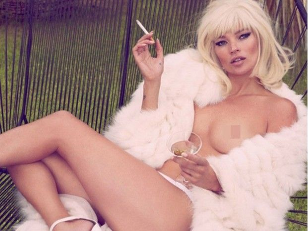 El nuevo desnudo de Kate Moss para la revista Vanity Fair