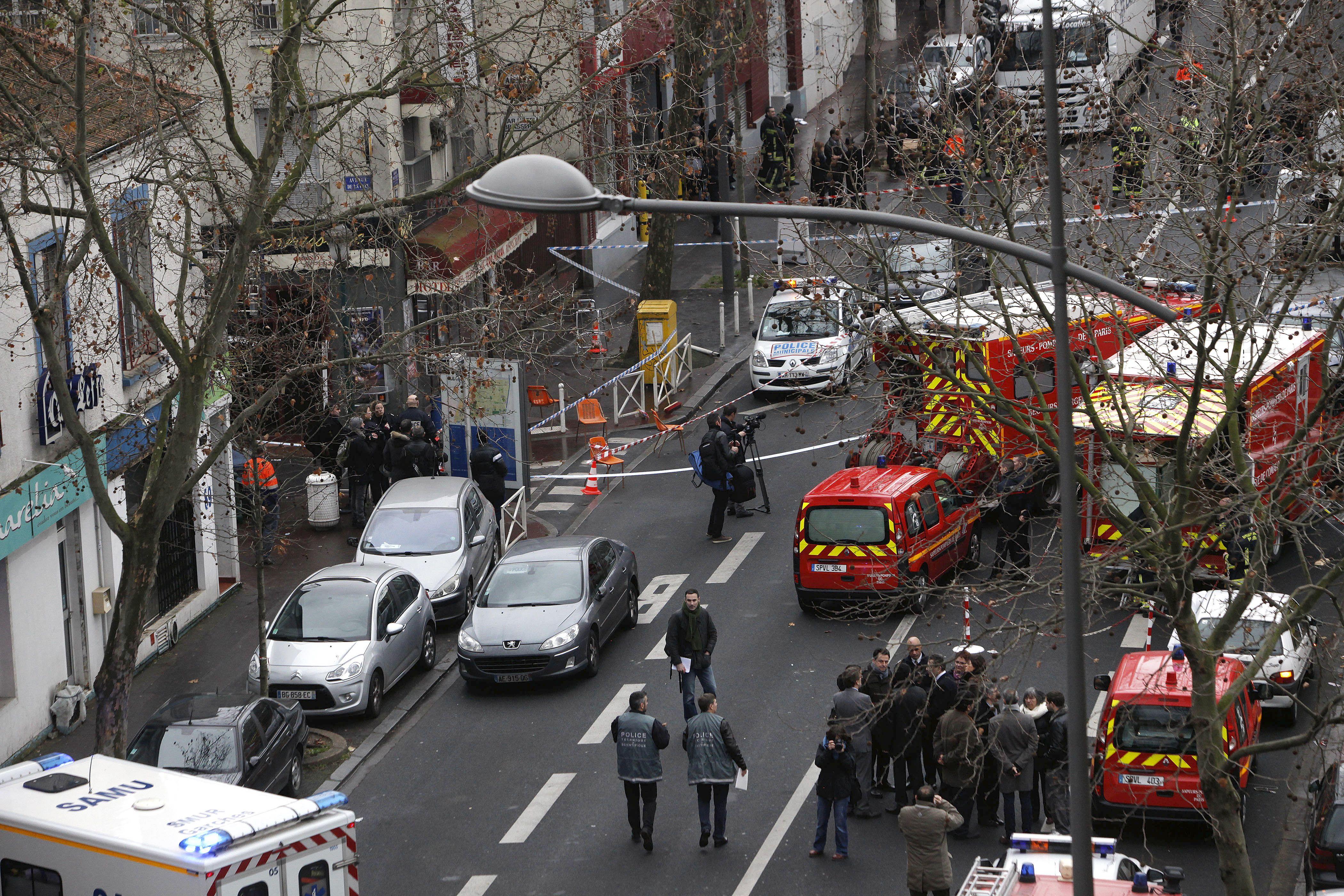 El dispositivo de seguridad que se dispuso en Montrouge