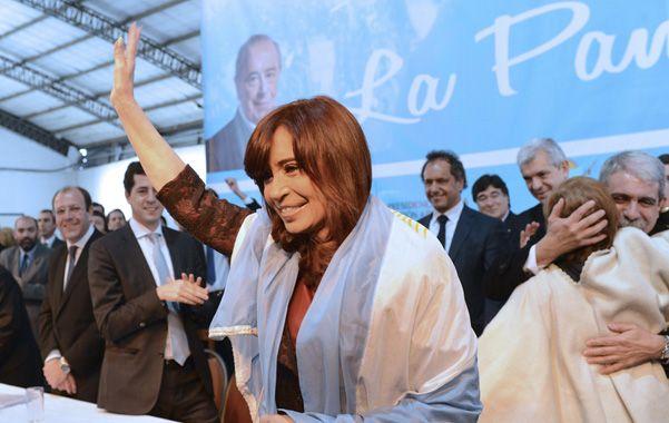 La presidenta encabezó un acto en La Pampa junto a la fórmula oficialista Scioli-Zannini.