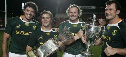 Sudáfrica venció a Nueva Zelanda y se alzó con el Tres Naciones de rugby