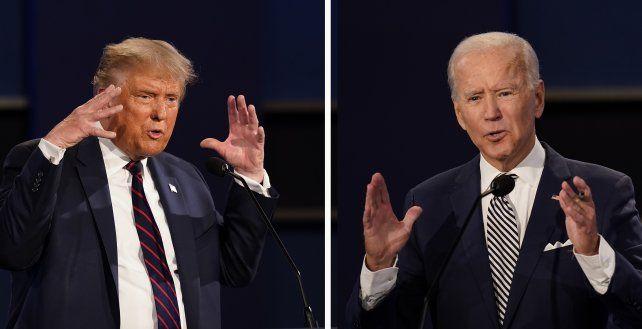 ¿Se repetrirá? Trump y Biden durante el primer debate
