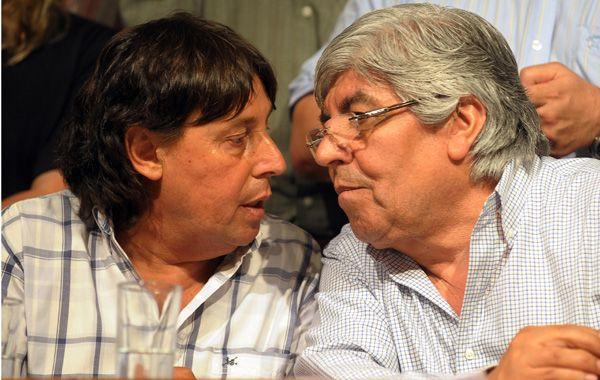 Hugo Moyano y Pablo Micheli encabezaron el martes pasado la protesta gremial conocida como 20N.