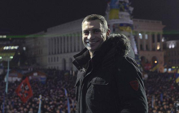 Protestas. Vitali Klitschko