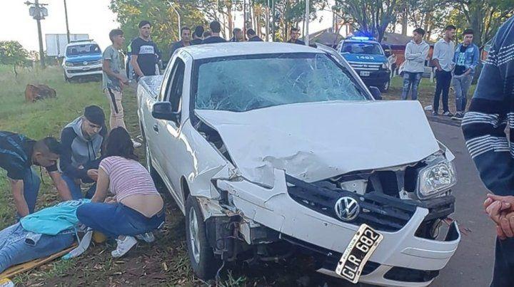 Realizaba maniobras con su camioneta y atropelló a siete jóvenes.Foto: Chajarí al Día