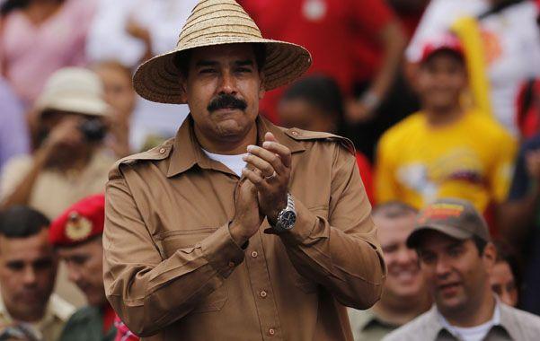 En Caracas. El presidente venezolano recibió el apoyo de los campesinos.