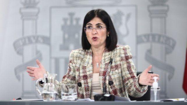 La ministra de Sanidad de España