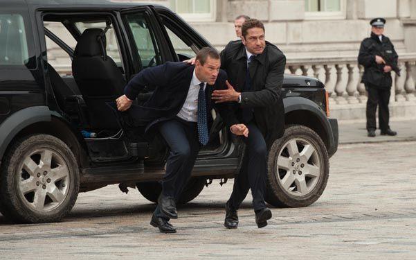 Juntos para la acción. Aaron Eckhart y Gerard Butler son el presidente de Estados Unidos y su guardaespaldas.