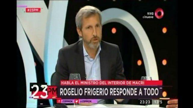 Frigerio dijo que el gobierno trabaja para encontrar a Santiago lo más rápido posible