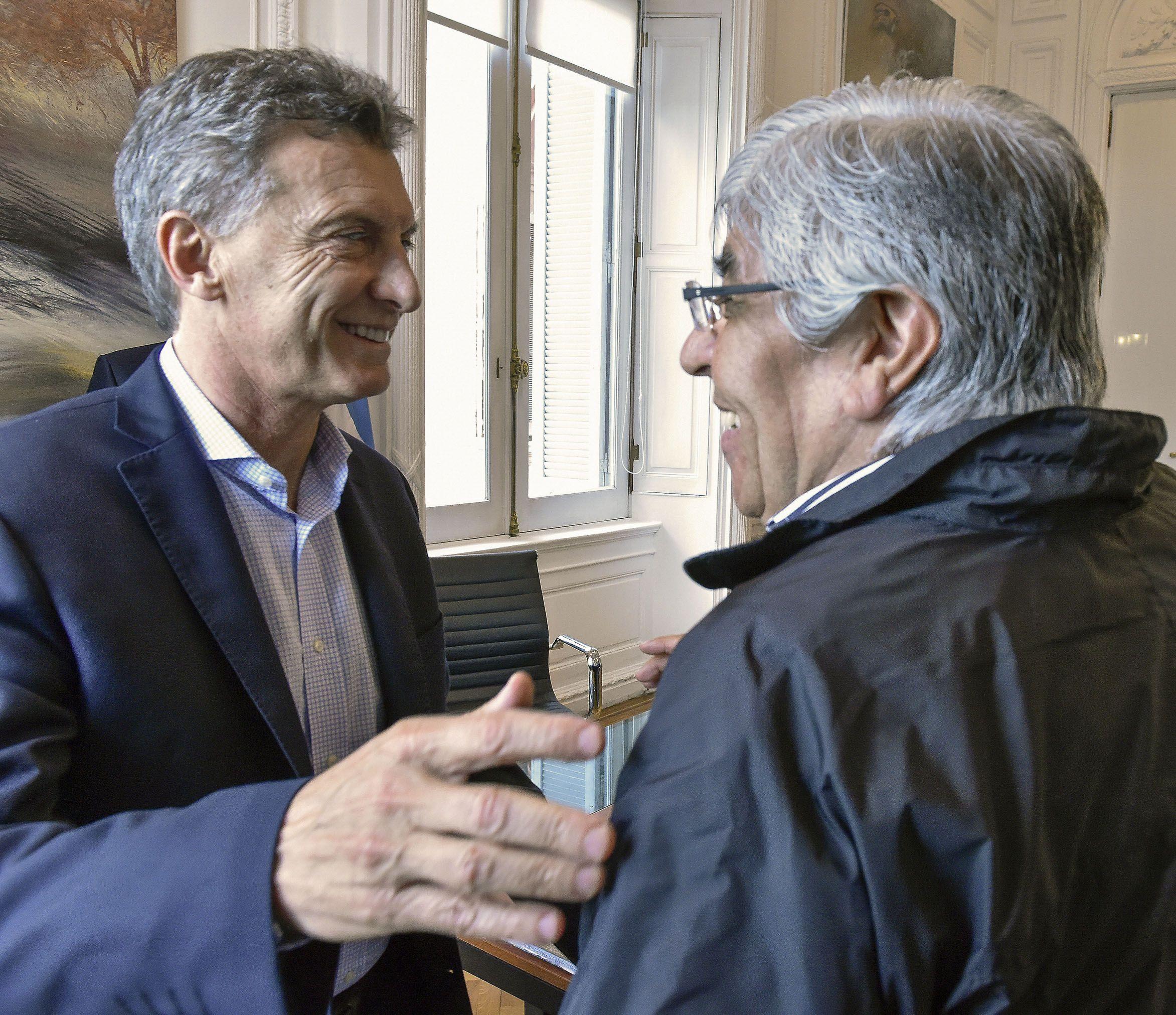 Macri y Moyano la semana pasada